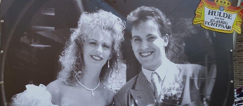 25 jaar getrouwd - zilveren huwelijksfeest of bruiloft - jubileumfeest met live muziek & dj of een themafeest