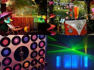 Drive-in show met dj-booth in stijl - compleet verzorgd feest met professioneel geluid & licht - dj met live muziek en entertainment of kies voor een themafeest